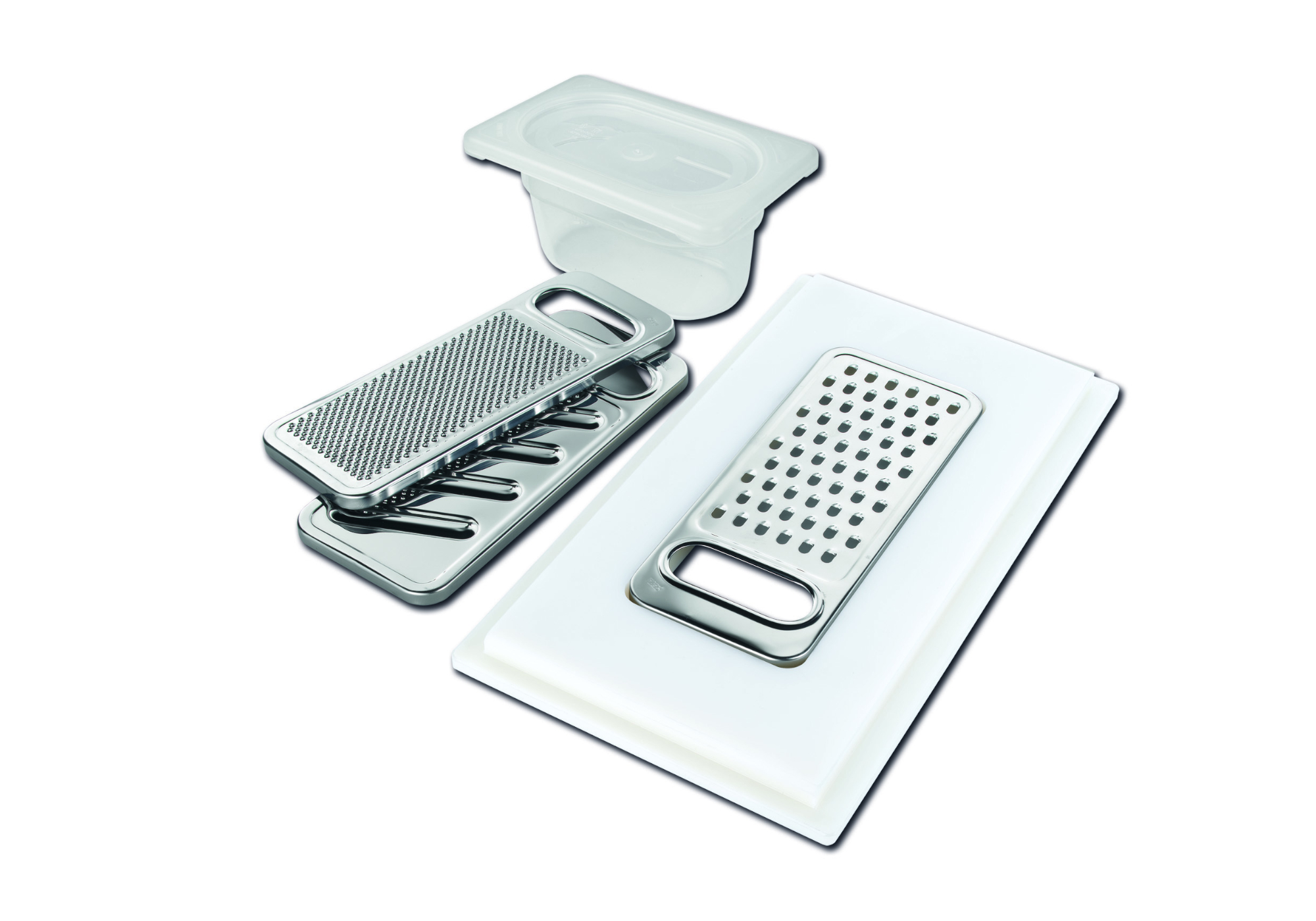 Graters kit with ring-holder and food collection tray 8159 101