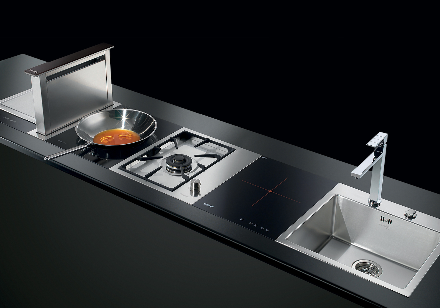 Cooker hob S4000 Domino Induction 7321 240