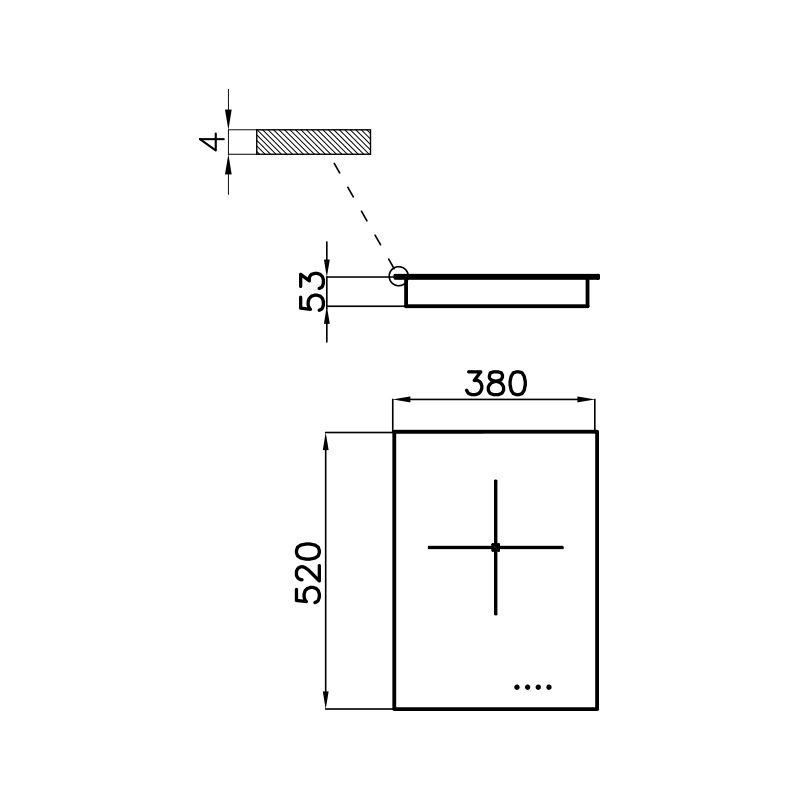 Plită pentru aragaz S4000 Domino Induction 7321 240