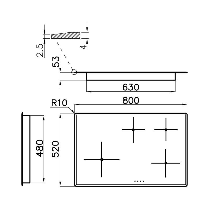 Plită pentru aragaz S4000 Induction 7332 240