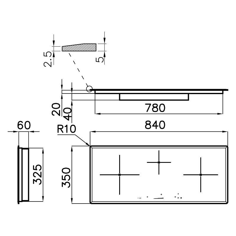 Plită pentru aragaz S4000 Inducție cu putere Control 7330 241